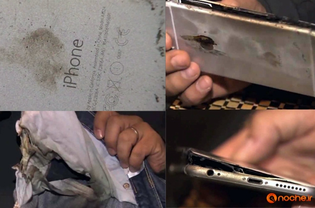 iphone 6 plus cought fire in jeans